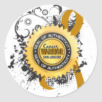 Appendix Cancer Warrior 23 Classic Round Sticker