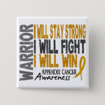 Appendix Cancer Warrior Button