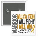 Appendix Cancer Warrior Button