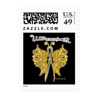Appendix Cancer Warrior Celtic Butterfly Postage Stamp