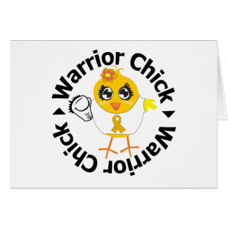 Appendix Cancer Warrior Chick Greeting Cards