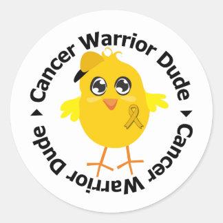 Appendix Cancer Warrior Dude Stickers