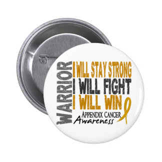 Appendix Cancer Warrior Pinback Button