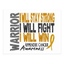 Appendix Cancer Warrior Postcard
