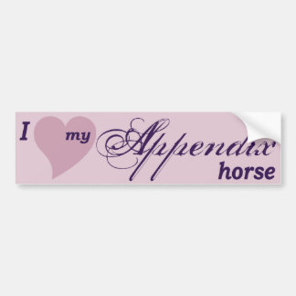 Appendix Quarter Horse Bumper Sticker