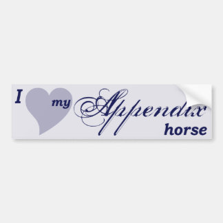 Appendix Quarter Horse Car Bumper Sticker