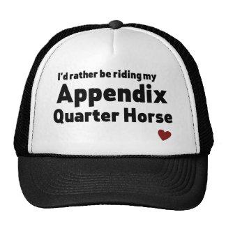 Appendix Quarter Horse Trucker Hat