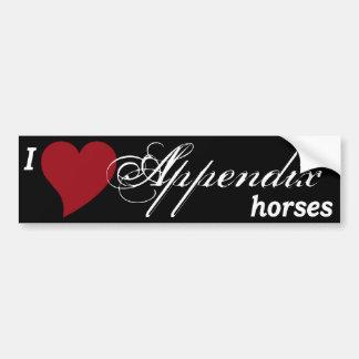 Appendix Quarter Horses Car Bumper Sticker