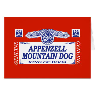 Appenzell Mountain Dog Card