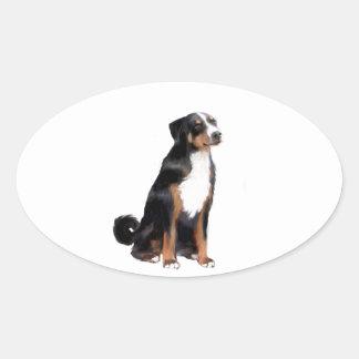 Appenzeller (a) - (aka perro del ganado de pegatina ovalada