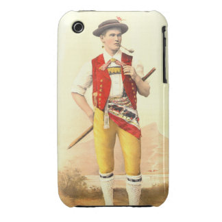 Appenzeller Cow Herd in Traditional Swiss Costume iPhone 3 Cases