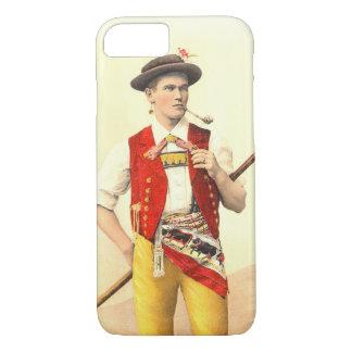 Appenzeller Cow Herd in Traditional Swiss Costume iPhone 8/7 Case