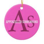 Appenzeller Sennenhund Monogram Ceramic Ornament