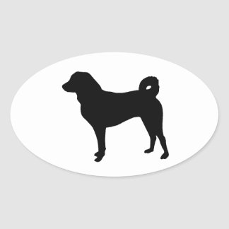 Appenzeller Sennenhund silo.png Pegatina Ovalada