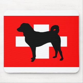 Appenzeller Sennenhund silo switzerland flag.png Mouse Pad