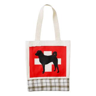 Appenzeller Sennenhund silo switzerland flag.png Zazzle HEART Tote Bag