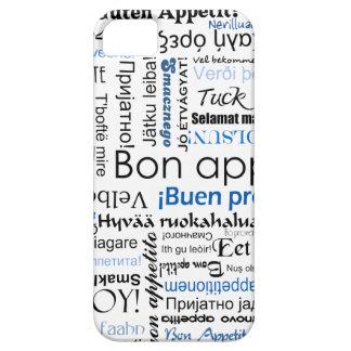 Appetit azul del Bon en muchas idiomas iPhone 5 Carcasa