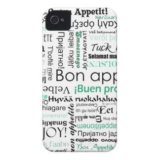 Appetit del Bon del trullo de la turquesa en otras Case-Mate iPhone 4 Funda