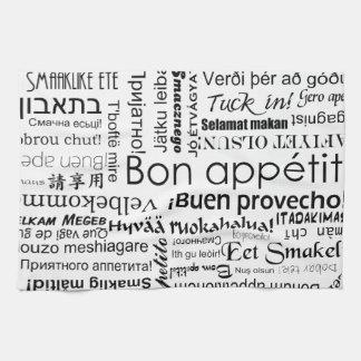 Appetit del Bon en otras idiomas Toalla