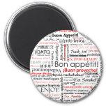 Appetit del Bon en tipografía de muchos otros idio Imán Redondo 5 Cm