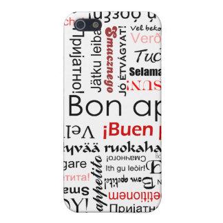 Appetit del Bon en tipografía de muchos otros idio iPhone 5 Funda