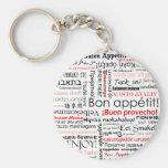 Appetit del Bon en tipografía de muchos otros idio Llavero