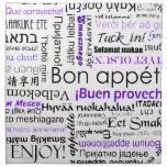 Appetit en otros idiomas - púrpura del Bon Servilletas Imprimidas