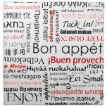 Appetit en otros idiomas - rojo del Bon Servilletas