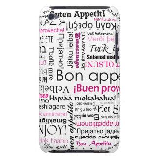Appetit rosado del Bon en muchas idiomas iPod Touch Cárcasa
