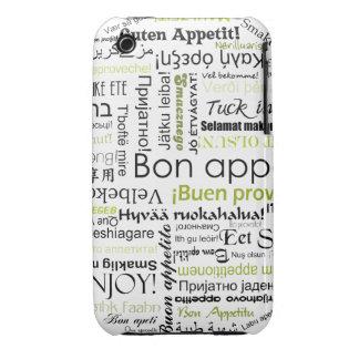 Appetit verde del Bon en otras idiomas Case-Mate iPhone 3 Fundas