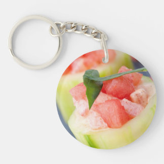 Appetizer Double-Sided Round Acrylic Keychain