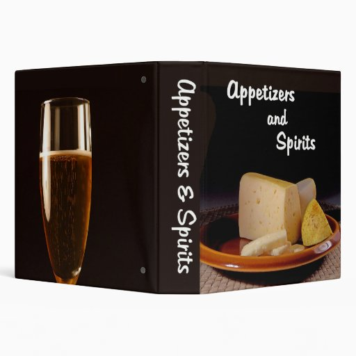 Appetizers And Spirits Recipe Binder