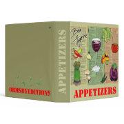 APPETIZERS - notebook binder
