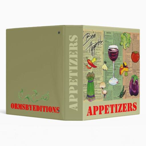 APPETIZERS -  notebook Binders