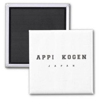 Appi Kogen Japón Imán Cuadrado