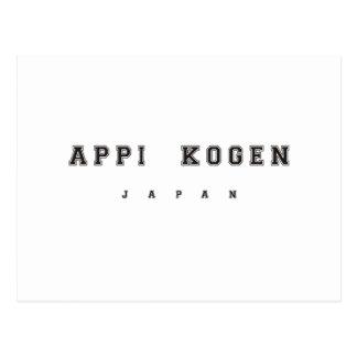 Appi Kogen Japón Postales