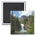 Appistoki Falls and Peak at Glacier National Park Magnet