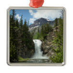 Appistoki Falls and Peak at Glacier National Park Metal Ornament