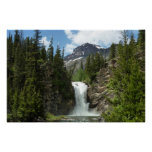 Appistoki Falls and Peak at Glacier National Park Poster