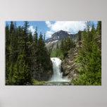 Appistoki Falls and Peak at Glacier National Park Poster