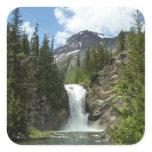 Appistoki Falls and Peak at Glacier National Park Square Sticker
