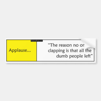 Applause Bumper Sticker