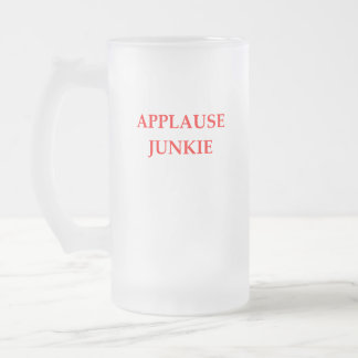 APPLAUSE FROSTED GLASS BEER MUG