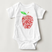 apple2 baby bodysuit