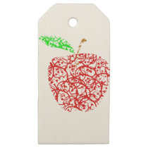 apple2 wooden gift tags