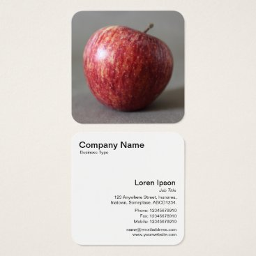 Professional Business Apple 02 square business card