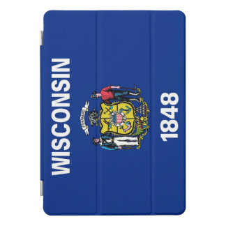 """Apple 10.5"""" iPad Pro with flag of Wisconsin, USA iPad Pro Cover"""