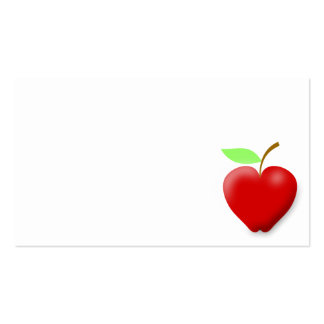 92 Apple Shaped Business Cards and Apple Shaped Business