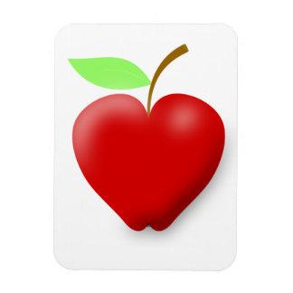 apple-148455 RED HEART SHAPED APPLE VECTOR FRUIT H Magnet