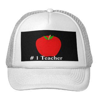 apple, # 1 Teacher Trucker Hat